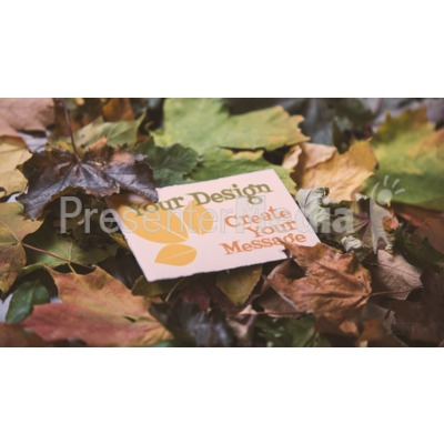 Message Card In Leaves Custom Presentation clipart