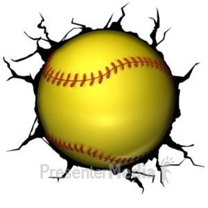 ID# 19332 - Softball Break Through - Presentation Clipart