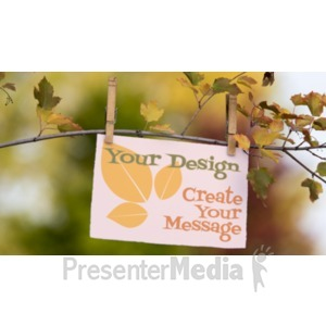ID# 19333 - Message Card On Branch - Presentation Clipart