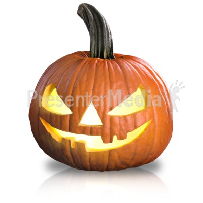 Scary Pumpkin Fun PowerPoint Clip Art