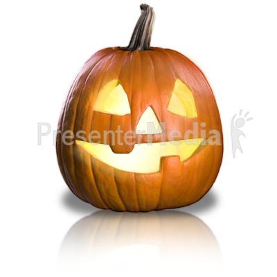 Friendly Pumpkin Fun PowerPoint Clip Art