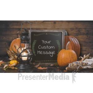 ID# 19339 - Rustic Pumpkin Chalkboard Custom - Presentation Clipart