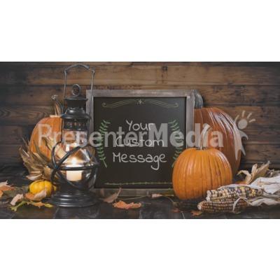 Rustic Pumpkin Chalkboard Custom Presentation clipart