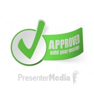 ID# 19352 - Paper Checkmark - Presentation Clipart