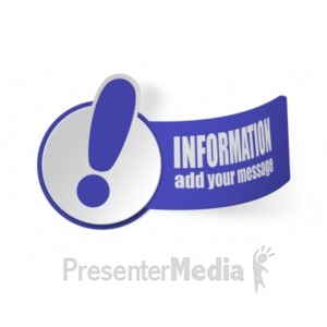 ID# 19354 - Paper Exclamation Mark - Presentation Clipart