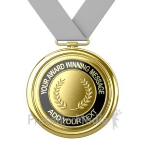 ID# 19362 - Gold Medal Custom - Presentation Clipart