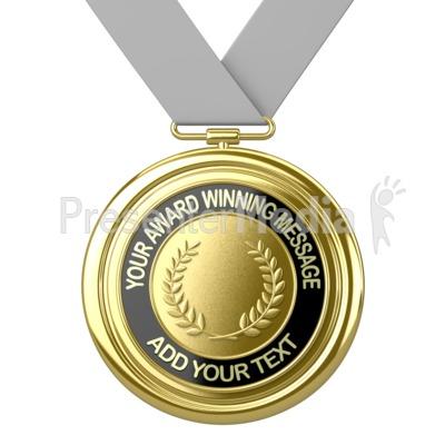 Gold Medal Custom PowerPoint Clip Art