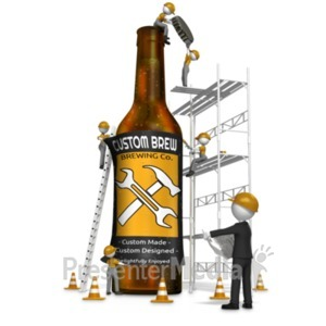 ID# 19373 - Making Craft Beer - Presentation Clipart