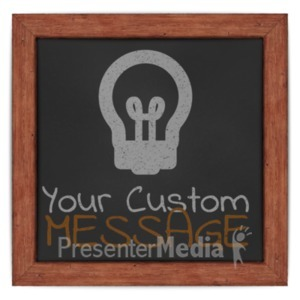 ID# 19385 - Custom Chalk Board Frame - Presentation Clipart