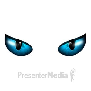 ID# 19400 - Scary Eyes Watching - Presentation Clipart
