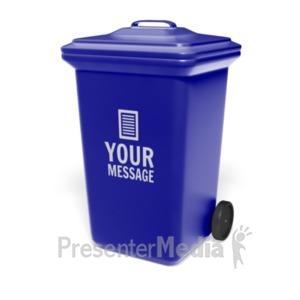 ID# 19402 - Garbage Bin Custom - Presentation Clipart