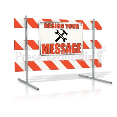 Road Sign Block Custom Presentation clipart
