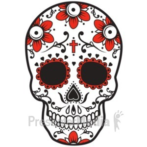 ID# 19411 - Sugar Skull Design - Presentation Clipart