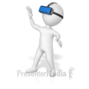 ID# 19423 - Figure Vr Goggles - Presentation Clipart