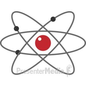 ID# 19424 - Atom - Presentation Clipart