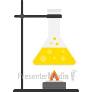 ID# 19436 - Beaker Burner - Presentation Clipart
