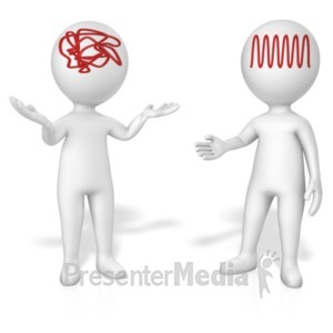 ID# 19439 - Figures Jumbled V Concise Thinking - Presentation Clipart