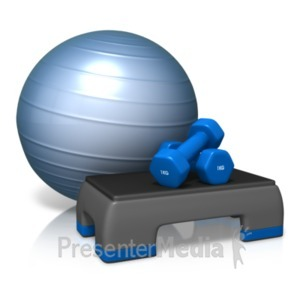 ID# 19445 - Exercise Cardio Equipment - Presentation Clipart