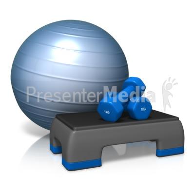 Exercise Cardio Equipment PowerPoint Clip Art