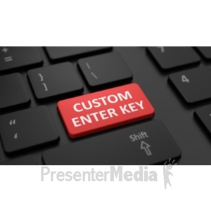 ID# 19465 - Low Profile Black Keyboard Custom - Presentation Clipart