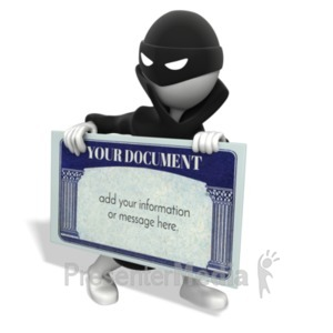 ID# 19506 - Identity Thief Custom - Presentation Clipart