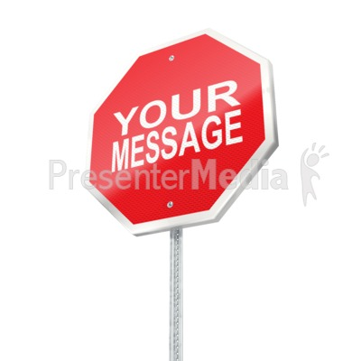 Stop Sign Custom Presentation clipart