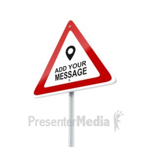ID# 19536 - European Caution Sign - Presentation Clipart