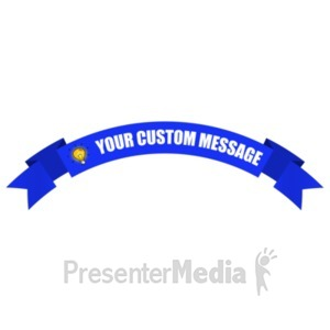 ID# 19557 - Arched Up One Layer Banner - Presentation Clipart