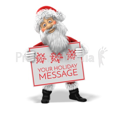 Santa Custom Sign Presentation clipart