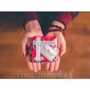 ID# 19601 - Christmas Present Palm - Presentation Clipart