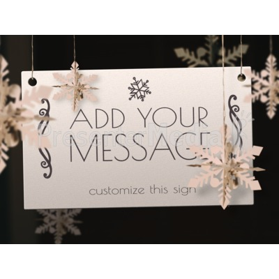 Snowflake Sign Presentation clipart