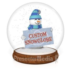 ID# 19608 - Snowglobe Custom - Presentation Clipart