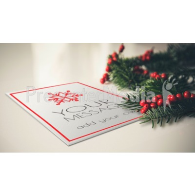 Card With Berries Presentation clipart