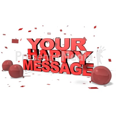 Happy Custom Message Presentation clipart