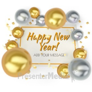 ID# 19648 - New Year Sign - Presentation Clipart