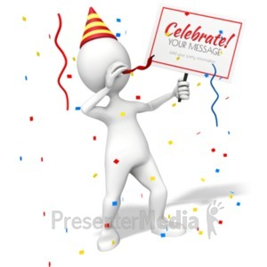 ID# 19678 - Figure Party Sign - Presentation Clipart