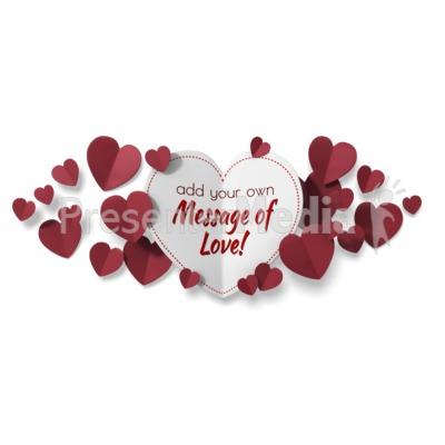 Paper Valentine Hearts Presentation clipart
