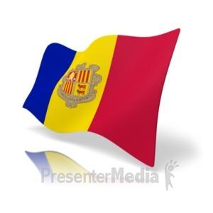 ID# 19801 - Flag Andorra - Presentation Clipart