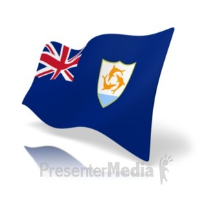 ID# 19802 - Flag Anguilla - Presentation Clipart