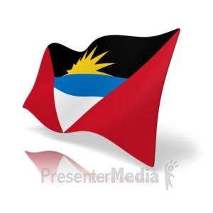 ID# 19803 - Flag Antigua and Barbuda - Presentation Clipart