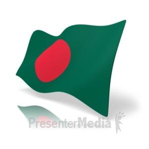 ID# 19805 - Flag Bangladesh - Presentation Clipart