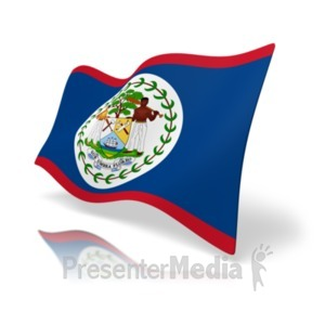 ID# 19806 - Flag Belize - Presentation Clipart