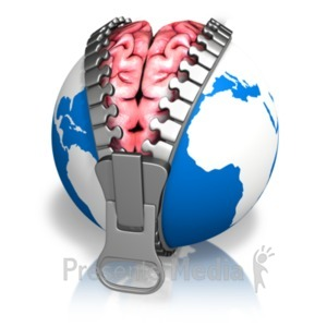 ID# 19807 - Global Brain Reveal Earth - Presentation Clipart