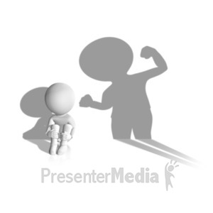 ID# 19809 - Child Abuse Shadow - Presentation Clipart