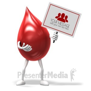 ID# 19810 - Blood Drop Sign - Presentation Clipart