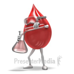 ID# 19815 - Blood Drop Scientist - Presentation Clipart