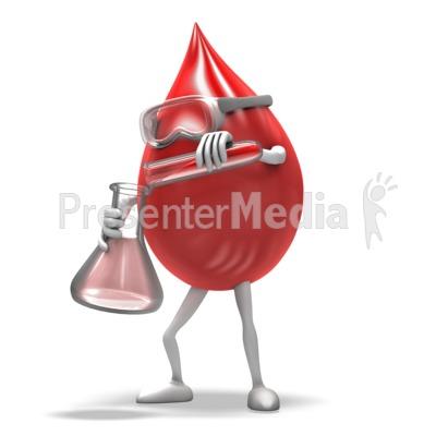 Blood Drop Scientist PowerPoint Clip Art