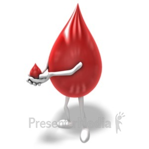 ID# 19825 - Blood Donation - Presentation Clipart