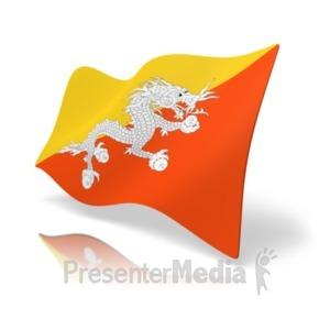 ID# 19849 - Flag Bhutan - Presentation Clipart