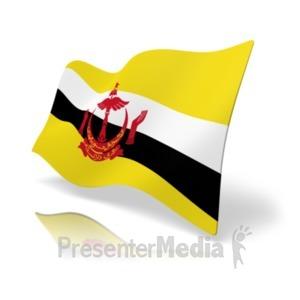 ID# 19851 - Flag Brunei - Presentation Clipart